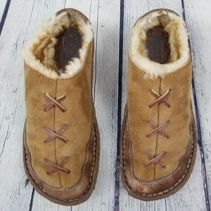 BORN | fur/sherpa lined rubber sole slippers